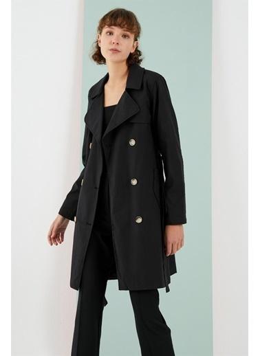 Z Giyim Trençkot Siyah